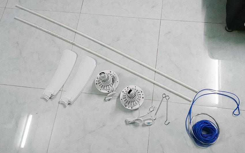 hướng dẫn cách lắp quạt trần mini trên trần la phông chuẩn bị những gì