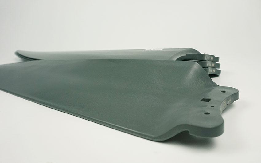 cánh quạt quạt trần mitsubishi 5 cánh đen xám c56-rw5 cy-gy thiết kế 3D nhựa ABS