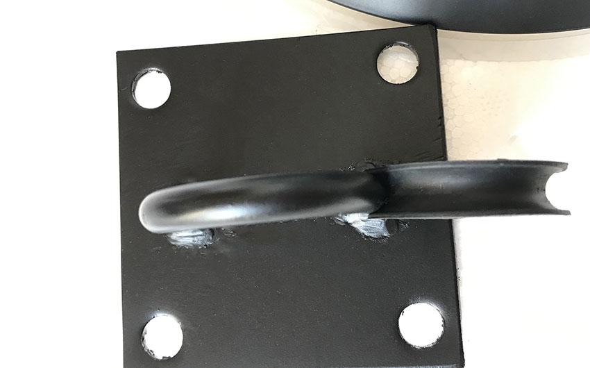 đường kính móc treo 8mm gắn thực tế lên quạt trần panasonic kdk.