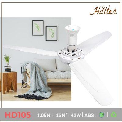 quạt trần mini phòng ngủ loại đại 1.05m hd105 hillter